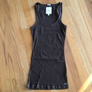 Brown gilly hicks stretch tank top undershirt